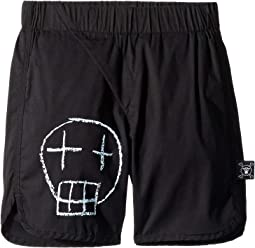 Sketch Skull Surf Shorts (Infant/Toddler/Little Kids)