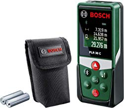 Bosch PLR 30 C - Medidor de distancias láser digital (2 pilas AAA, alcance: 0,05-30 m, en cartón)