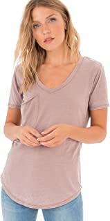 Z SUPPLY Women's The Pocket Tee Relaxed Fit Burnout Top