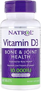 Natrol, Vitamin D3, 60 Tablets, 10,000 IU