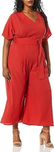بدلة نسائية من City Chic مقاس كبير رسمية ذات ساق واسعة مع حلقة D