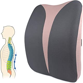 Back Support for Office Chair, Mkicesky Lumbar Support Pillow, Memory Foam Back Cushion for Lower Back Pain Relief, Ergono...