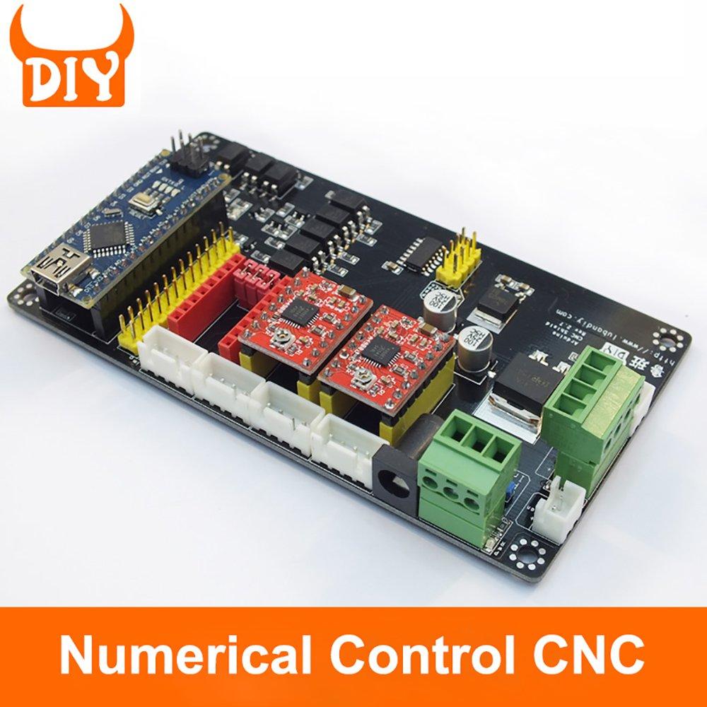 CNC Máquina de grabado XYZ3 Eje DIY USB V4 controlador de motor Panel de control para DIY Laser grabador: Amazon.es: Bricolaje y herramientas