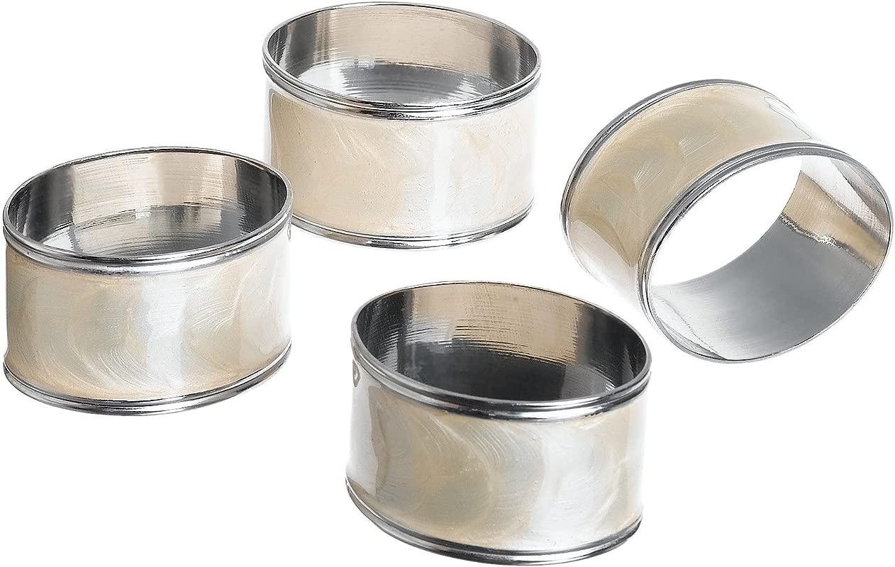 Lenox Laurel Leaf Ivory Napkin Rings Set Of 4