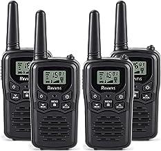 Rivins RV-7 Walkie Talkies Long Range 4 Pack 2-Way Radios Up to 5 Miles Range in Open Field 22 Channel FRS/GMRS Walkie Talkie for Adults UHF Handheld Walky Talky (Black/Orange)