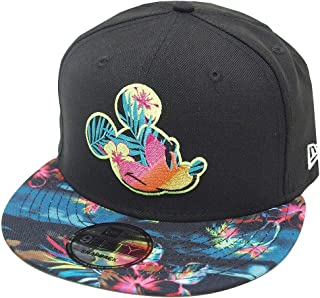 New Era Mickey Mouse Floral Snapback Cap 9fifty 950 OSFA Basecap Limited Edition Black