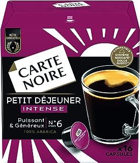 Carte Noire Café Petit Déjeuner Intense, Capsules Compatibles Dolce Gusto, 6 Paquets de 16 capsules (96 Capsules)