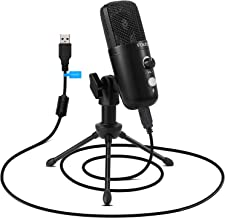 USB Plug&Play Condenser Microphone, FDUCE Professional Studio PC Mic with Tripod for Gaming, Streaming, Podcast, Chatting,...