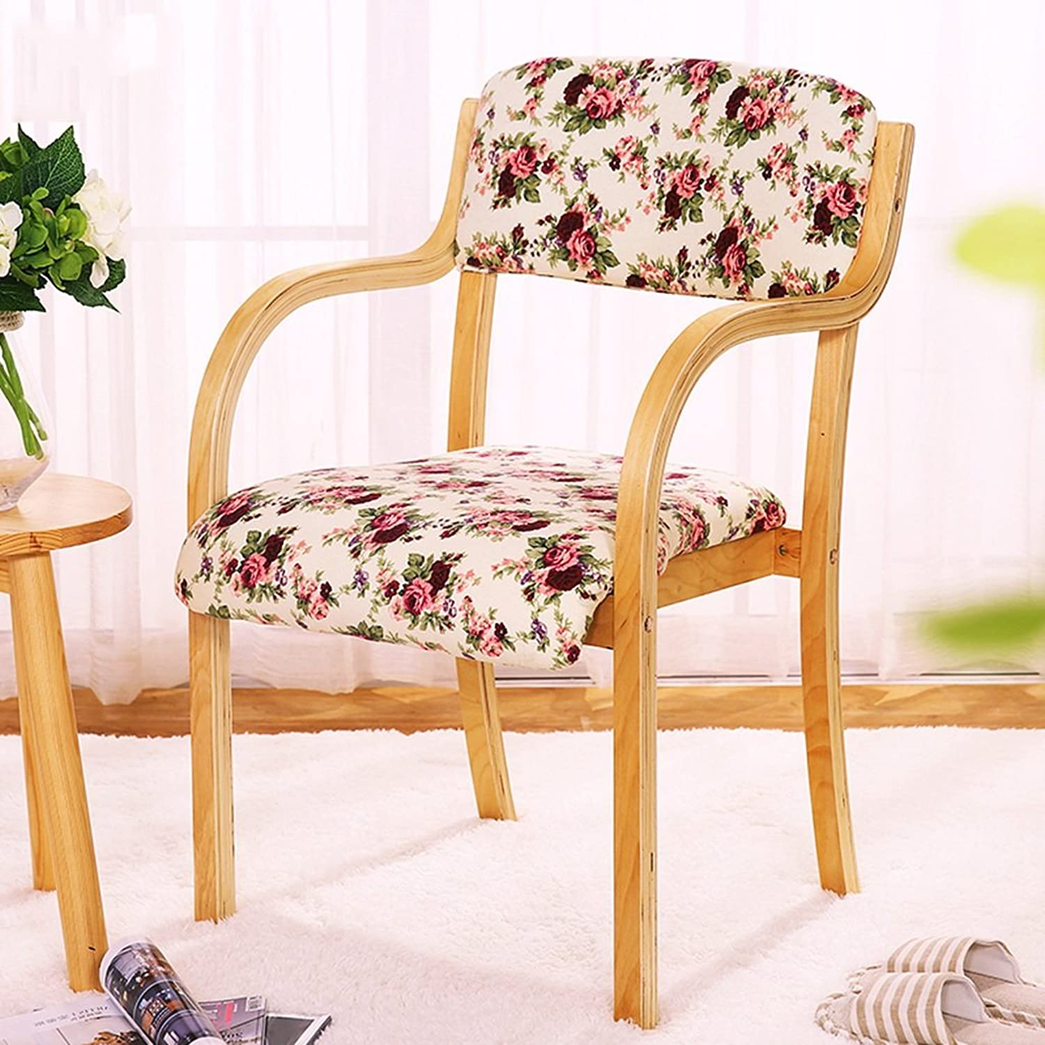 Chair, Solid wood Dining chair Household Modern Cloth Desk and chair Office chair ( color    3 )