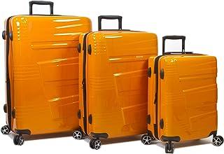 Dejuno Lumos New Generation Hardside 3-Piece Expandable Spinner Luggage Set, Orange