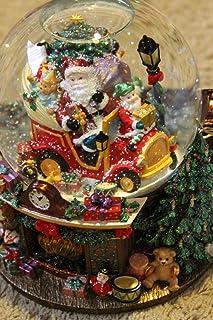 Christopher Radko Trim-A-Trio Snowglobe - Jingle Bells Musical/Blower/Light -Retired 2000