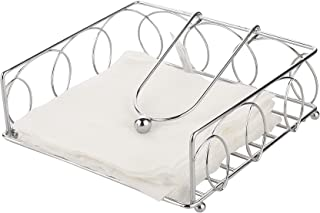 Bridge2Shopping Stainless Steel Napkin Holders for Dining Table, Tissue Holder, 7.5 in' x 7.5 in' x 2.5 in'