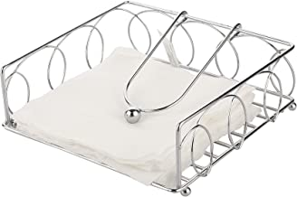 Bridge2Shopping Stainless Steel Napkin Holders for Dining Table, Tissue Holder, 7.5 in' x 7.5 in' x 2.5 in'