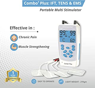 UltraCare PRO Combo3 Plus-TENS, EMS & IFT Multi-Stimulator Electronic Pulse Massager