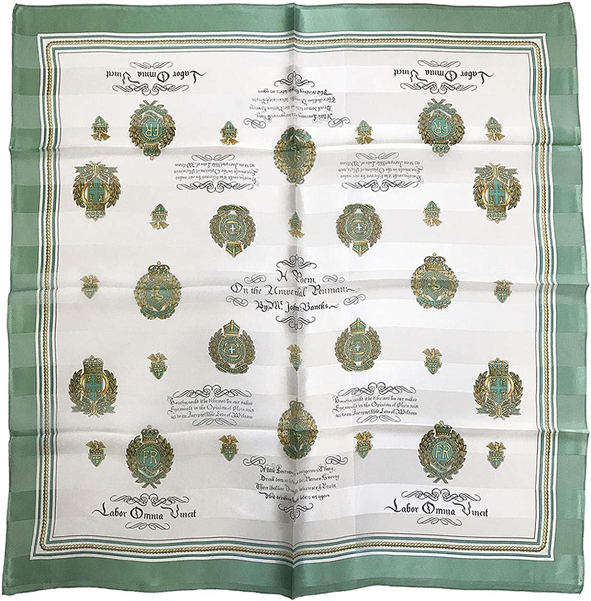 Silk Scarf, 9095 Letter emblem, precision printed, lightairy satin, Brand Cased, SS889095