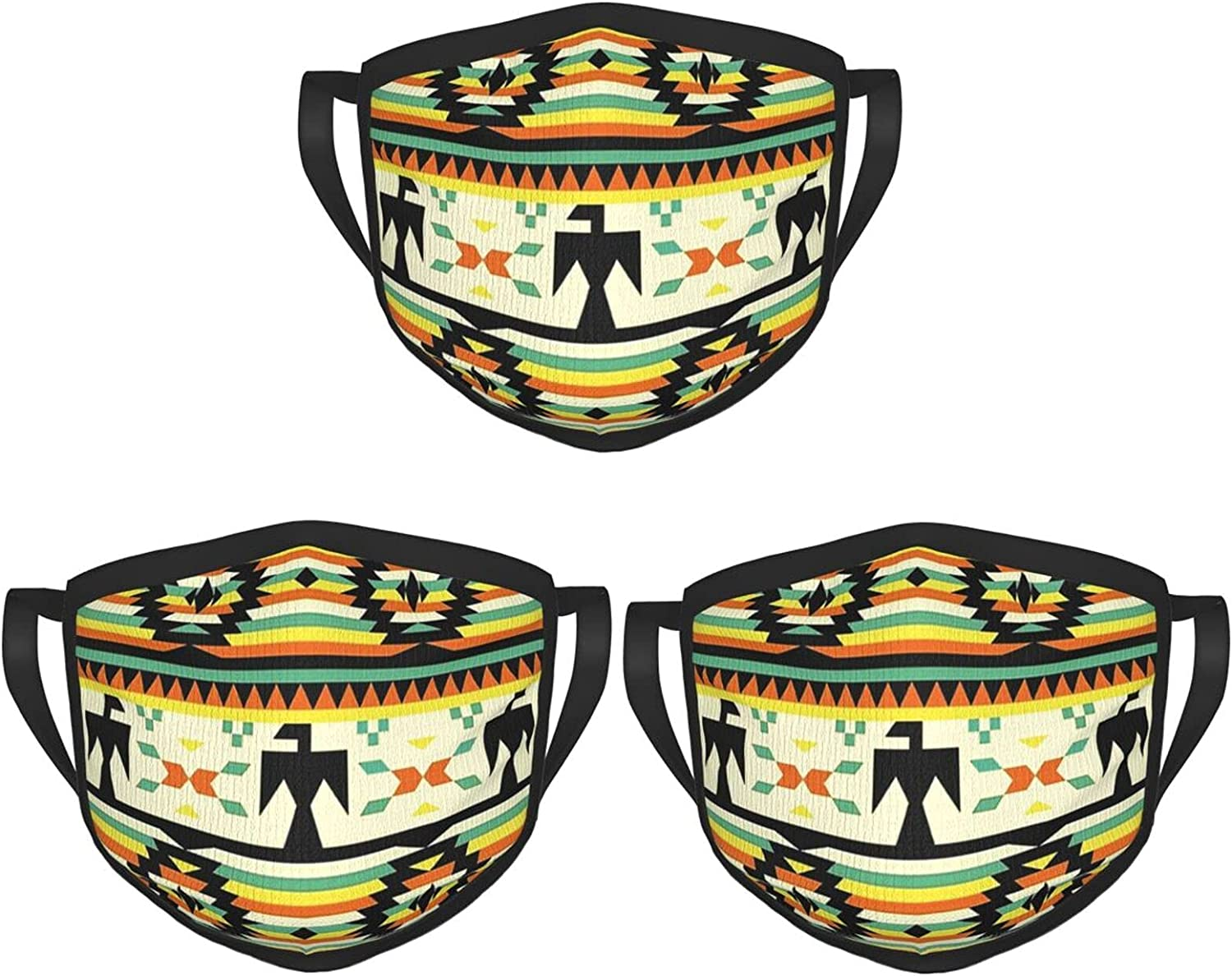 Balaclava Earmuffs Native American Pattern Face Mouth Cover Mask Reusable Windproof Scarf Towel Cover Headwrap