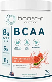 boost-it nutrition – Sport BCAA | Muscle Recovery, Energy & Hydration Post Workout Formula | 8 Grams 2:1:1 ...