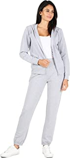 RouA Women's 2 Piece Active Sweatsuit Zip-Up Hoodie Sweatpants French Terry Jogger Tracksuit Set