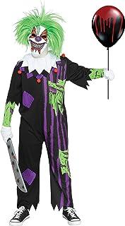 Fun World Demented Clown Costume, Large 12 - 14, Multicolor