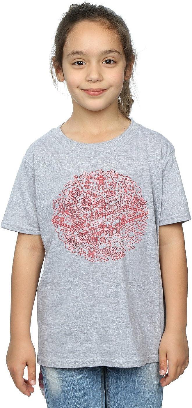 STAR WARS Girls Christmas Death Star T-Shirt 5-6 Years Sport Grey