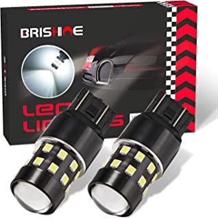 BRISHINE 1000 Lumens Super Bright 7443 7440 7444 7441 W21W LED Bulbs 6000K Xenon White 24-SMD LED Chipsets with Projector for Backup Reverse Lights, Parking Lights, Daytime Running Lights(Pack of 2)