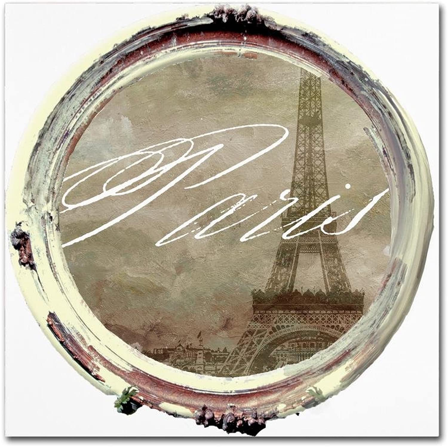 Trademark Fine Art Paris in Frames 3 by color Bakery, 14x14 Canvas Wall Art