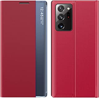 Galaxy Note 20 Ultra 5G beschermhoes compatibel met Galaxy Note 20 Ultra 5G hoes, Clear View Cover 360 Full Body Premium L...
