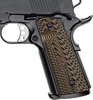 Cool Hand 1911 G10 Grips, Full Size (Government/Commander), Free Screws Included, Magwell Cut, Mag Release, Ambi Safety Cut, New Generation OPS Texture