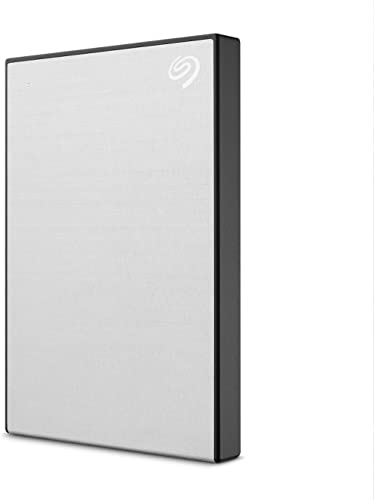 Seagate One Touch 2TB External Hard Drive HDD – Silver USB 3.0 for PC Laptop and Mac, 1 year MylioCreate, 4 Months Ad...