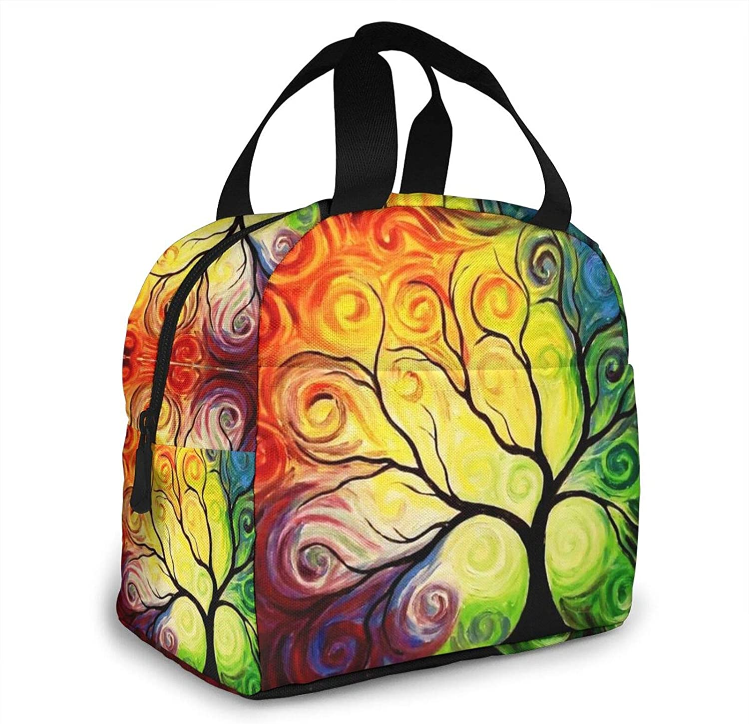 Colorful Rainbow Tree of 2021 spring and summer new Life Lunch Bag Direct sale manufacturer Box Cooler Insulated Lun
