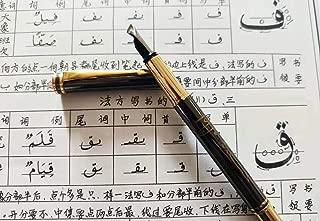 Metal fountain pen gothic art pen Arabic Persian calligraphy Multi-functional nib (Line width: 6mm)