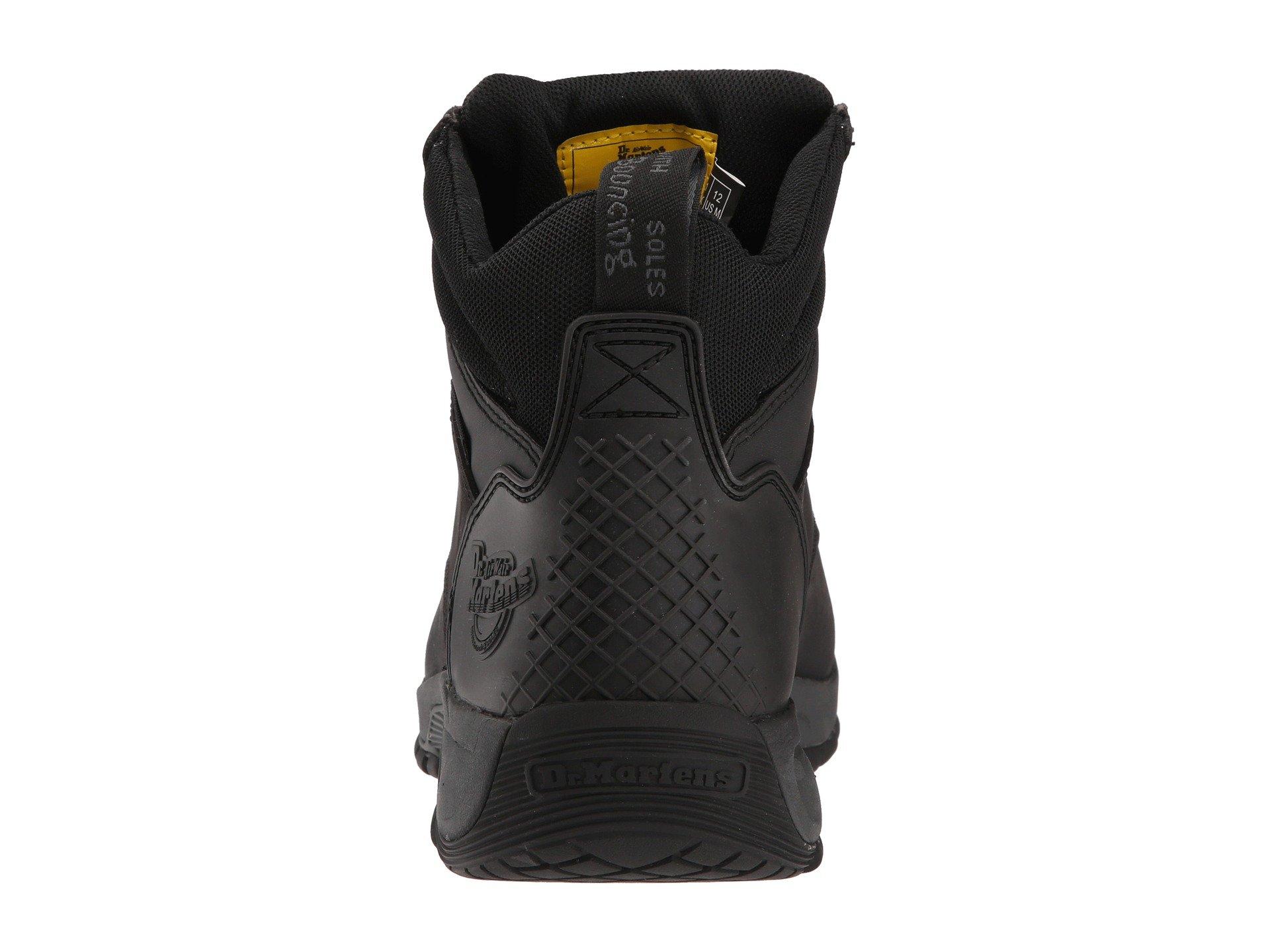 Martens Black Work Boot Toe Tie Dr 6 Steel Ridge dzfwyWqF8