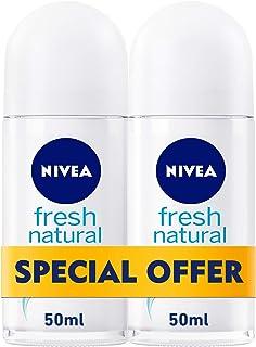 NIVEA, Deodorant Female, Fresh Natural, Roll-On, 2 x 50ml