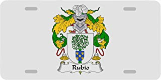 Carpe Diem Designs Rubio Coat of Arms/Rubio Family Crest License/Vanity Plate – Made in The U.S.A