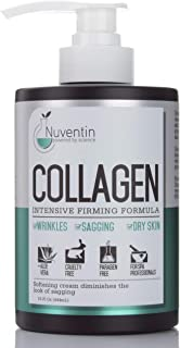 16 Fl Oz Salon Size Collagen Firming Cream. Nuventin Collagen Cream for Wrinkles, Sagging Skin, and Dry Skin. Features Alo...