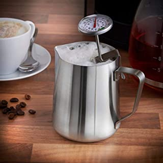 Mosaic Stainless Steel Frothing Pitcher Milk Pot (350 ml), Silver