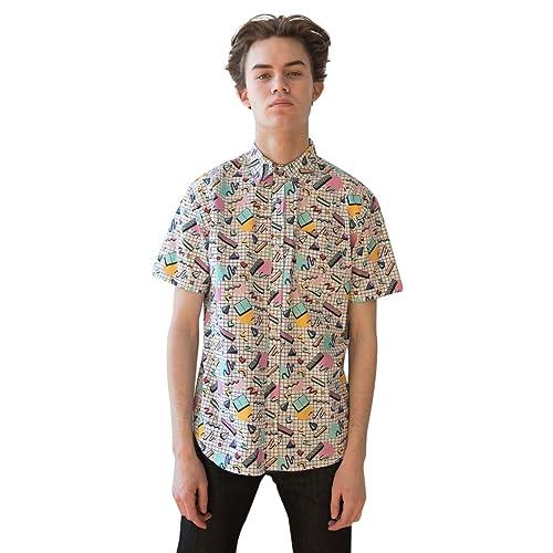 00d6fe8677b6e7 Ragstock Men s Casual Button-Up Icon-Printed Woven Shirts