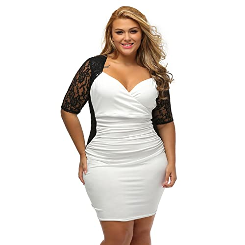 Black and White Dress Plus Size: Amazon.com