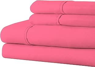 Bedford Home Series 1200 4 Piece Full Sheet Set - Pink