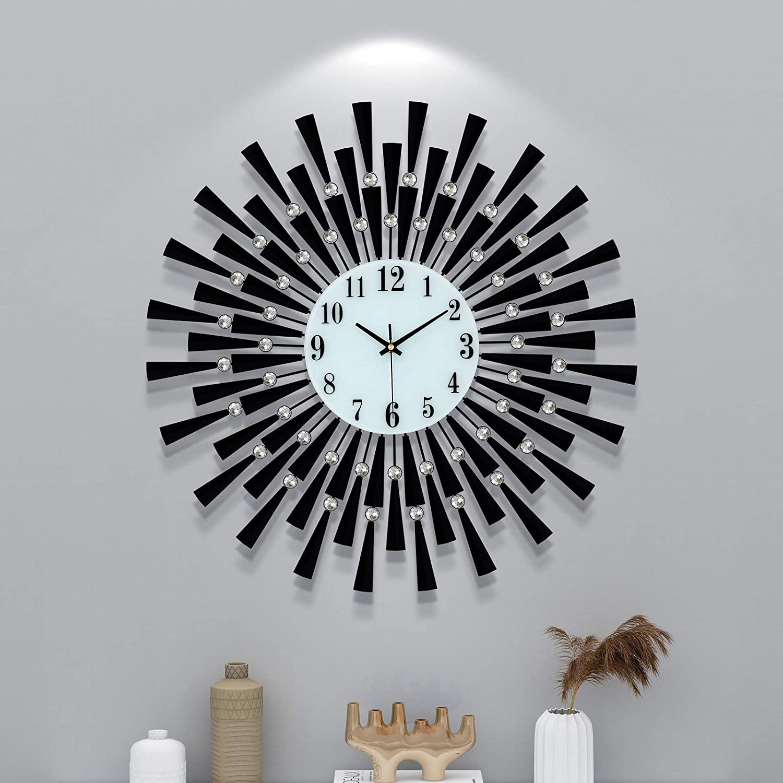 Superlatite FLEBLE Large Wall Clocks Challenge the lowest price for Living Silent Modern Decor Big Room
