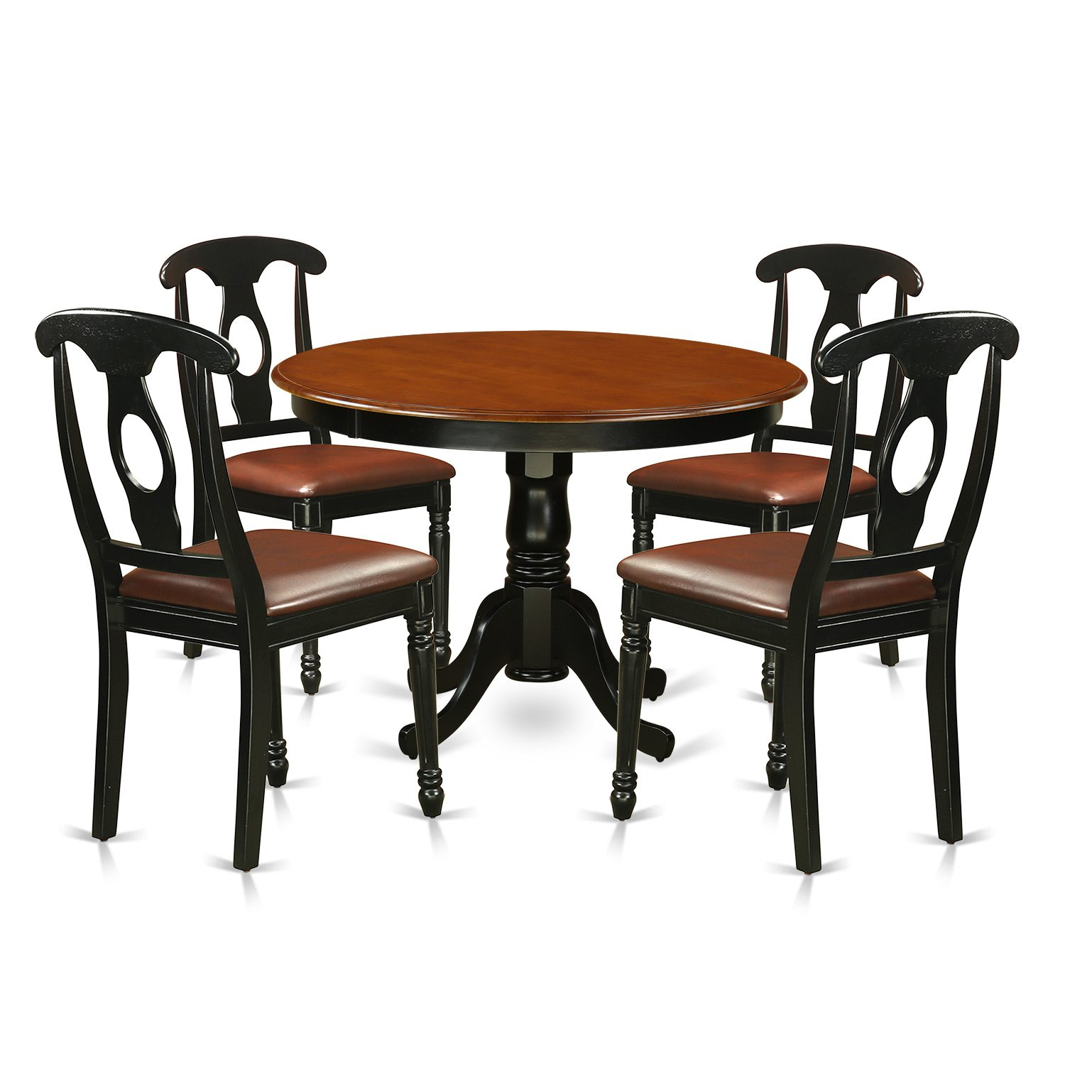 Round Dining Table With Leather Chairs: Round Dining Table With Leather Chairs