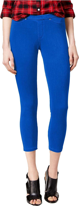 Hue Original Denim Capri Leggings Blue Small Sapphire