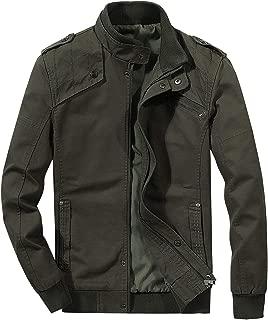 Men's Casual Winter Cotton Military Jackets Windproof Windbreaker Outdoor Coat