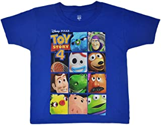 Disney Toy Story 4 Boy`s T-Shirt Woody Buzz Print Youth Ages 4-14