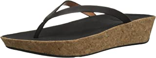 FitFlop Women's Linny Toe-Thong Sandals-Leather Wedge