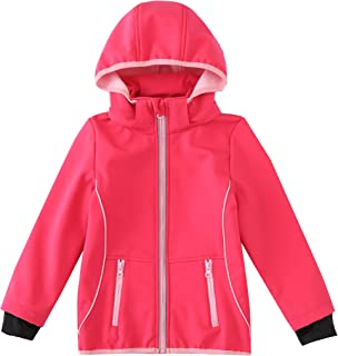 M2C Girls Hooded Fleece Lined Windproof Jacket