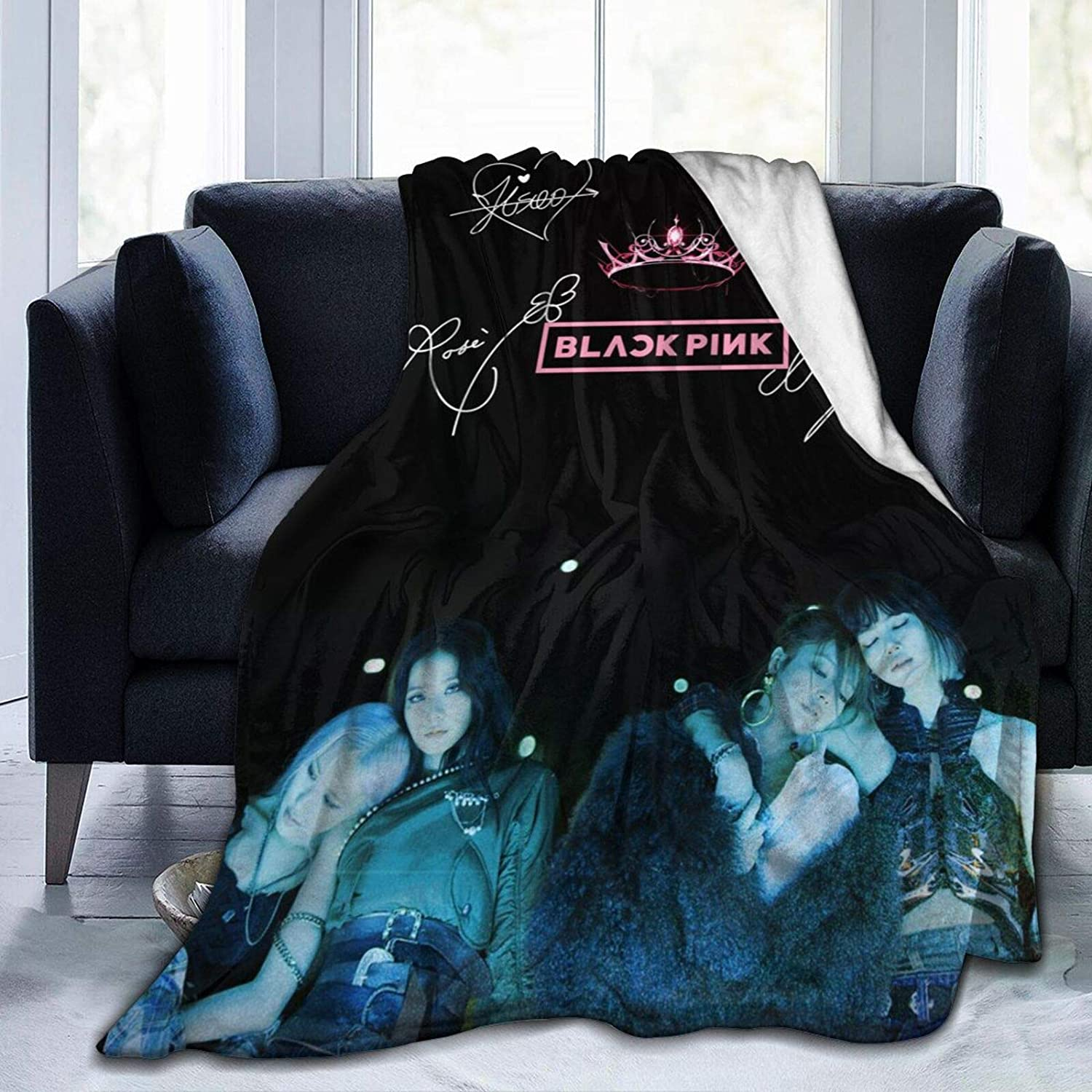 BeTLLEX Blackpink Kpop Girl Blanket Vacuum Packaging Blanket Textured Super-Soft Flannel Fashion Fun Stylish Blanket Bedding for Couch Sofa Bed Living Room//Bedroom 50X40