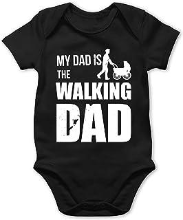 Shirtracer My Dad is The Walking Dad weiß - Baby Body Kurzarm für Jungen und Mädchen