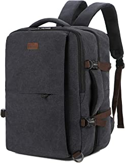 BAOSHA Canvas Travel Business Briefcase Laptop Backpack Travel Rucksack With Packing cube Luggage Organizer HB-11 (Black)