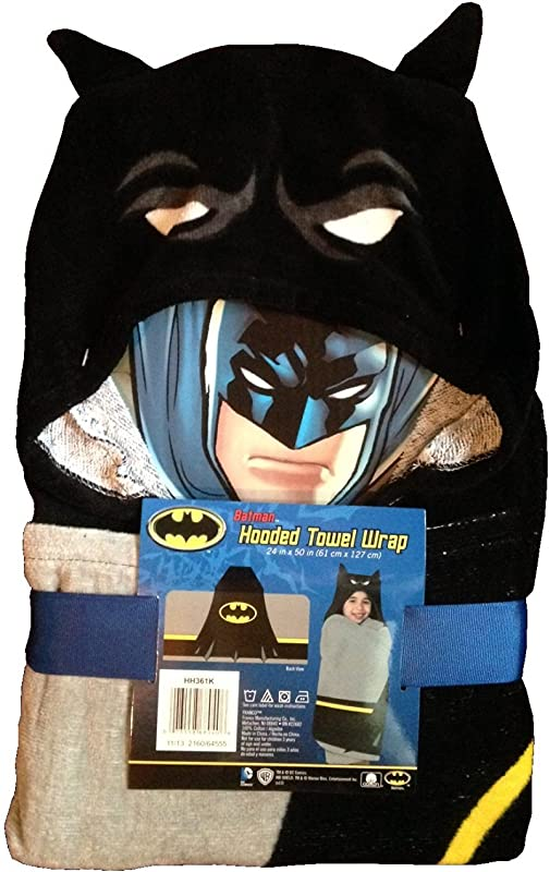 Batman Hooded Towel Wrap Poncho 24 X 50